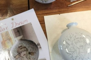 Perle de Kaolin - Porcelain painting workshop