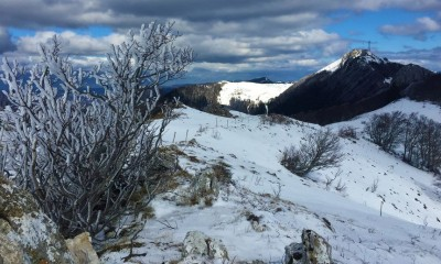 Crossing the Plateau de Retord and the Grand Colombier with snowshoes