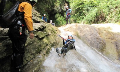 Canyoning in Le Grenand mountain stream