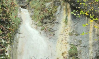 Site of canyoning : waterfall of Biez des Cruies
