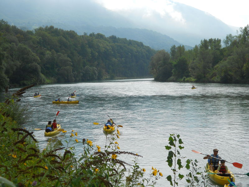 Canoe/kayak : descent down the Rhône - the bivouac